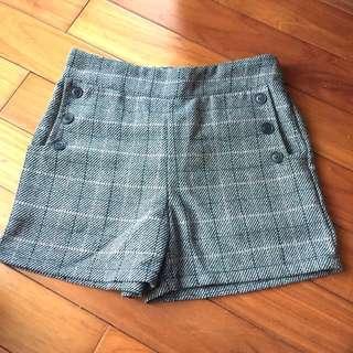 🚚 毛料格紋短褲 格子短褲 毛料短褲