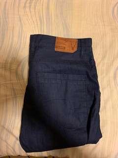 藍色牛仔長褲