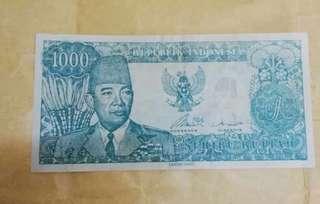DUIT LAMA INDONESIA 1000 RUPIAH