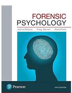 PSY 300 - Forensic Psychology PDF; 5Th edition; Pozzulo, Bennell & Forth