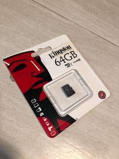 Kingston 64GB microSD SD card