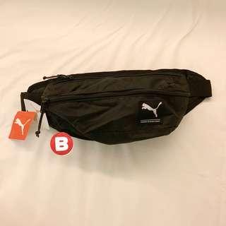 🚚 全新 puma logo 腰包 puma hood waist pack 斜肩包 07299401