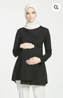 OLLOUM Meghan Maternity Top in Black