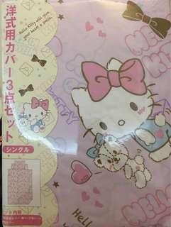 BNIB PINK Sanrio Hello Kitty Bedsheet with Quilt Cover Set