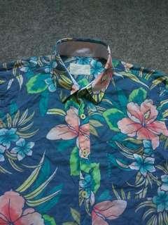 PULL & BEAR Floral Print Shirt Long Sleeve Size M