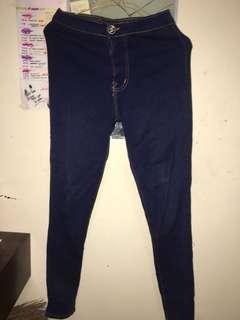 High waits Navy Blue Jeans