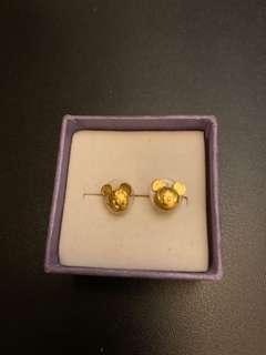 Disney黃金耳環