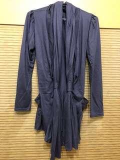 🚚 正韓藍紫色造型罩衫