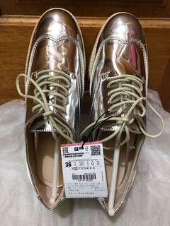 🚚 Zara銀色厚㡳鞋