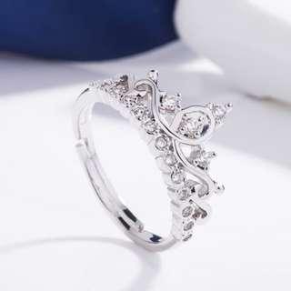 Cincin Berlian Lapis Emas Putih jual murah sudah dapat kotak perhiasannya TIPE CROWN