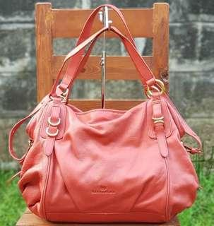 Authentic Hiroshima Dark Coral (Color of the year! )  Two-way Large to XL Satchel