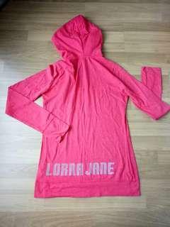 Lorna Jane Life Long Sleeve with Hood, Size M