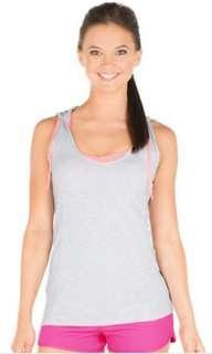 Lorna Jane Trista Excel Hooded Tank Grey Marl, Size L