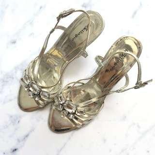 Bellagio Silver Heels