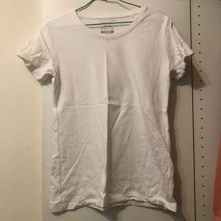 🚚 僅試穿 101白色長版素T #衣櫃大掃除