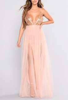 Rose Gold Prom Dress (size xs)