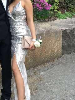 Sequin Prom Dress with a Slit