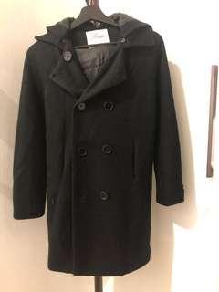 🚚 #換你的捐款發票 黑色大衣風格薄外套