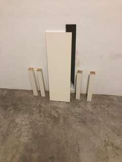 Ikea spare shelf and table Leg bench leg