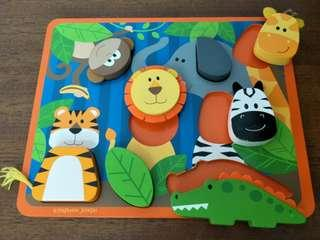 Wooden Puzzle - Wild Animals