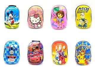 Ready Stock Malaysia Backpack Kids Cartoon Eggshell School Bag Hardcover