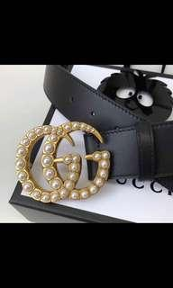 Gucci Double G Pearl Belt
