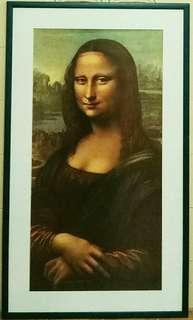 裝置收藏品:蒙娜麗莎的微笑 (木玻璃相架高:116cm 闊:68cm):罕有海報印刷品