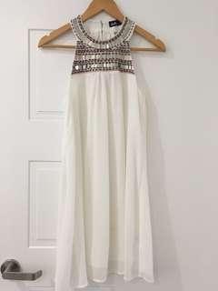 Lovely White Chiffon Dress
