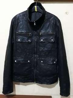 GENUINE LEATHER Parka jaket From SOLOFRA City in ITALY