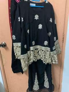 Shawl publika saree in black