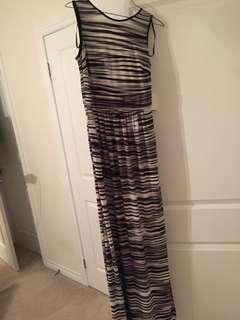Black and white maxi summer dress