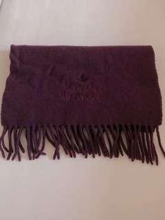 🚚 正版 Vivienne westwood 圍巾 紫紅色