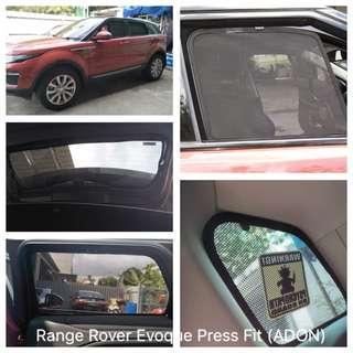 Original ADON Shades Custom Fit Press Fit Sunshades on Range Rover Evoque