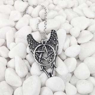 Angel Pentagram Necklace