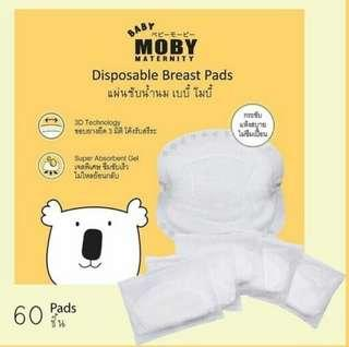 Moby Nursing Breast Pads 60pads