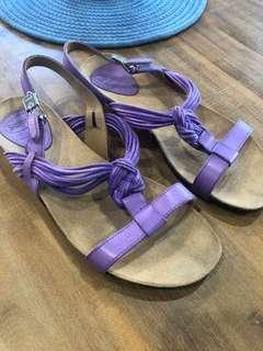 Scholl Summer Sandals purple (similar to Birkenstock)