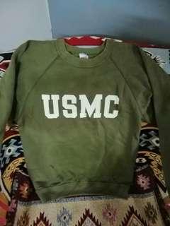 Rare vintage usmc olive green sweatshirt