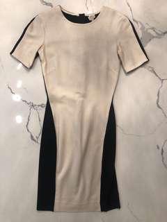ARITZIA WILFRED DRESS BLACK/WHITE XXS
