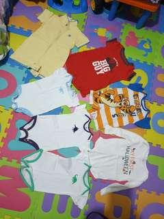 REPRICED: Preloved set of 7 onesies for boys