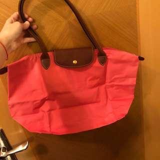 割粉色Longchamp Bag