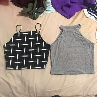 Two halter neck tops