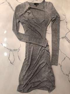 ARITZIA WILFRED FREE DRESS XXS/LIGHT GREY