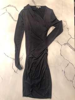 ARITZIA WILFRED FREE DRESS DARK GRAPHITE/XXS