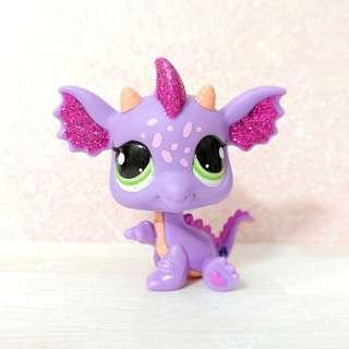 Littlest Pet Shop Rare and Authentic Purple Dragon!