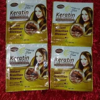 Merry Sun Keratin Hair Therapy With Chocolate Golden Mask 4.9 (Take All)