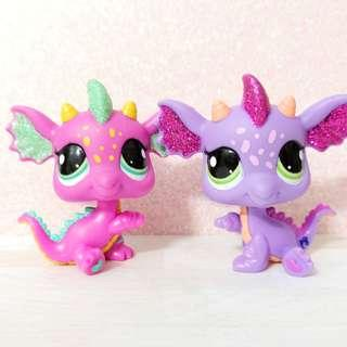 Littlest Pet Shop LPS rare and authentic Dragon Pair