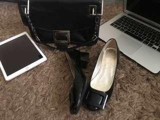 Roger vivier belle de nuit rubber-sole shoes size 37