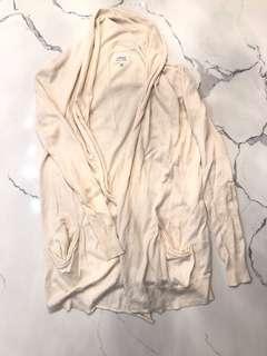 ARITZIA WILFRED Wrap/Cardigan BEIGE XXS