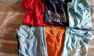 Lot of 6 sports shirts yonex women