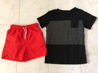 2 PCS Boy's T-shirt and Shorts Set